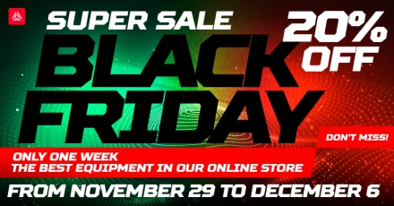 Black Friday at LASERWAR. 20% discount on laser tag devices!